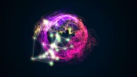 Abstract energy ball rotating on black background 3d illustration. Energy ball rotating on black background 3d illustration Stock Photography