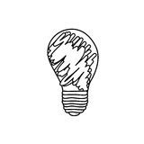 Abstract energy bulb power. Illustration design Royalty Free Stock Image