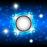 Abstract energy button background. Design Royalty Free Stock Photo