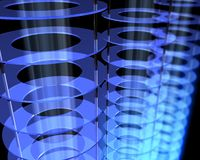 Abstract Energy Field. 3D render of abstract energy field with blue beams Royalty Free Stock Images