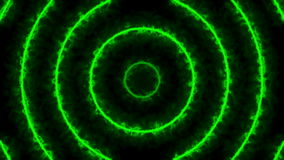 Abstract energy tunnel. Green digital background stock footage