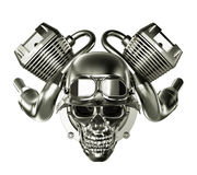 Abstract Engine Motor with Skull Stock Photography