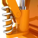 Abstract engineering assembly Stock Image