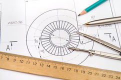 Abstract engineering drawings Stock Image