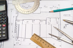 Abstract engineering drawings Royalty Free Stock Photos