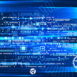 Abstract engineering future technology background. Royalty Free Stock Photos