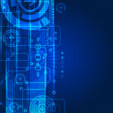 Abstract engineering future technology background Stock Photo