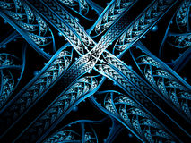 Abstract entwined bands - digitally generated image Stock Images