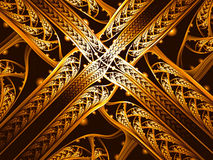 Abstract entwined bands - digitally generated image Stock Photos