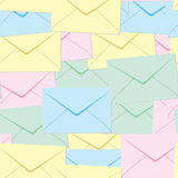 Abstract envelopes background. Seamless. Pastel palette.Vector illustration Stock Photo