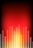 Abstract equaliser and red background  Stock Photos