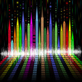 Abstract equalizer bacground Royalty Free Stock Photos