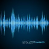 Abstract equalizer background blue Royalty Free Stock Image