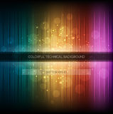 Abstract equalizer background. Colorful rainbow wave. Stock Image
