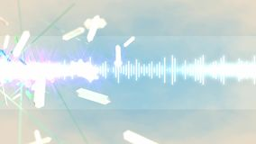 Abstract equalizer background, creative, music, sound. stock video