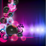 Abstract equalizer background with heart Stock Image