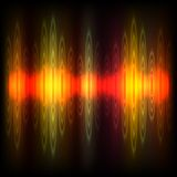 Abstract equalizer background. Red-orange wave. vector illustration