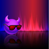 Abstract equalizer background with smiley. Blue-Purple wave. Royalty Free Stock Photos