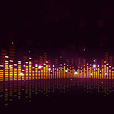 Abstract Equalizer Music Background Royalty Free Stock Photography