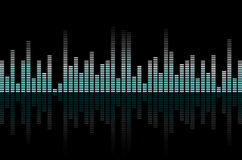 Abstract equalizer - music or technical background Royalty Free Stock Image