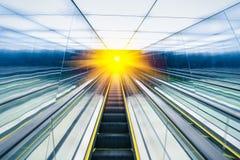 Abstract escalator Stock Image