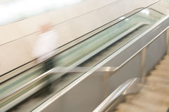 Abstract of the escalator in motion. Royalty Free Stock Photos