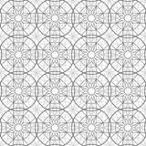 Abstract esoteric geometric pentagrams seamless pattern royalty free illustration