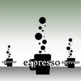 Abstract espresso cups Stock Photos