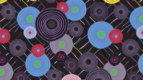 Abstract ethnic background from circles and lines. Vector stock illustration