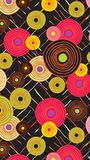 Abstract ethnic background from circles and lines. Vector royalty free illustration