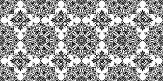 Abstract ethnic black and white background. Seamless ethnic pattern. Seamless pattern. Black and white seamless background. Ethnic abstract background, abstract Stock Illustration