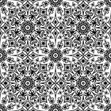 Abstract ethnic black and white background. Seamless pattern. Seamless pattern. Black and white seamless background. Abstract background, abstract pattern Stock Illustration
