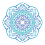 Abstract ethnic colored mandala ornamental pattern. Unique oriental style hand drawn design elements Stock Photo