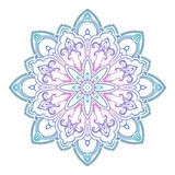 Abstract ethnic colored mandala ornamental pattern. Unique oriental style hand drawn design elements Royalty Free Stock Photography