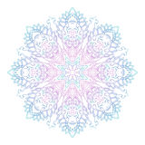 Abstract ethnic colored mandala ornamental pattern. Unique oriental style hand drawn design elements Stock Photos