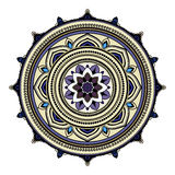 Abstract ethnic colored mandala ornamental pattern. Unique oriental style hand drawn design elements Royalty Free Stock Image