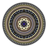 Abstract ethnic colored mandala ornamental pattern. Unique oriental style hand drawn design elements Royalty Free Stock Photos
