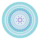 Abstract ethnic colored mandala ornamental pattern. Unique oriental style hand drawn design elements Stock Images