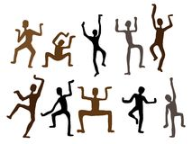 Abstract ethnic dance men. Vector  Illustration Royalty Free Stock Photography