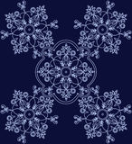 Abstract ethnic floral ornament. Vector Royalty Free Stock Image