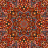 Abstract ethnic geometric floral round ornament. Abstract Tribal vintage ethnic seamless pattern ornamental Royalty Free Stock Images