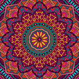 Abstract ethnic geometric  floral round ornament Royalty Free Stock Images