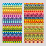 Abstract ethnic geometric vector strip patterns Stock Photos