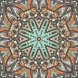 Abstract ethnic indian seamless pattern tribal. Vector Tribal indian vintage ethnic seamless design. Festive colorful mandala pattern Royalty Free Stock Photo