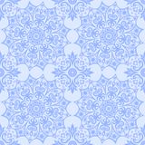 Abstract ethnic light blue background. Seamless ethnic pattern. stock image