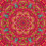 Abstract ethnic mandala seamless pattern. Festival art seamless mandala pattern. Ethnic geometric print. Colorful frame background Royalty Free Stock Image