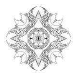 Abstract ethnic ornament. Beautiful geometric mandala design.  Royalty Free Stock Image