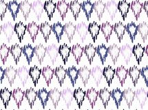 Abstract ethnic pattern background uneven shapes, boho stock illustration