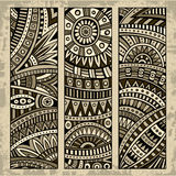 Abstract ethnic pattern card set Royalty Free Stock Photo