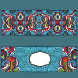 Abstract ethnic pattern cards set.Bright Royalty Free Stock Image
